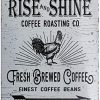 PXIYOU The Old Rise And Shine Fresh Brewed Coffee Vintage Metal Tin Signs For Kitchen Cafe Diner Or Restaurant Size 8X12 Inches 0 100x100