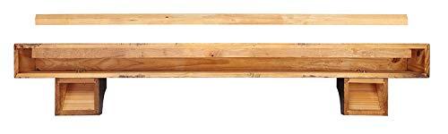 Pearl Mantels 412 72 50 Shenandoah Pine 72 Inch Fireplace Mantel Shelf Rustic Medium 0 0