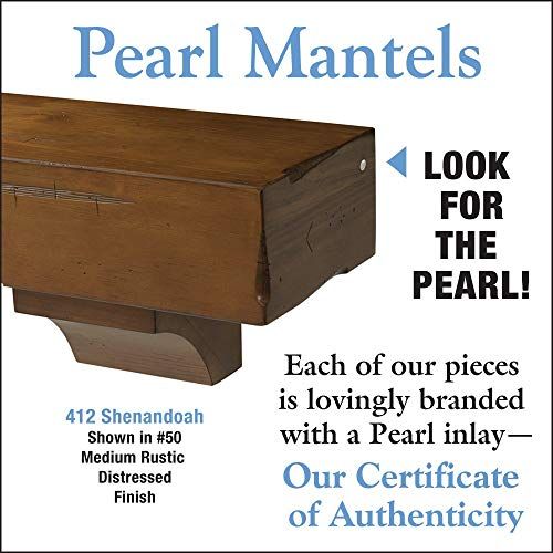 Pearl Mantels 412 72 50 Shenandoah Pine 72 Inch Fireplace Mantel Shelf Rustic Medium 0 1