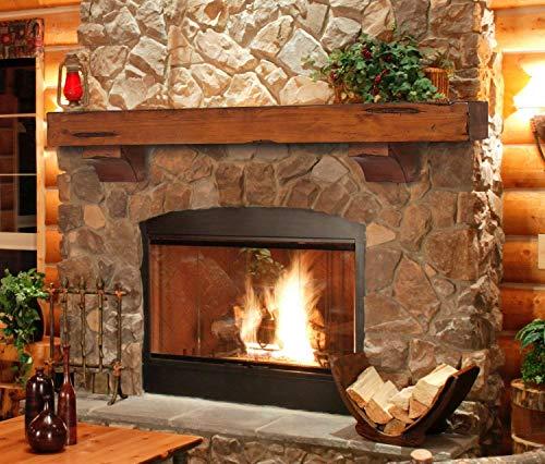 Pearl Mantels 412 72 50 Shenandoah Pine 72 Inch Fireplace Mantel Shelf Rustic Medium 0 2