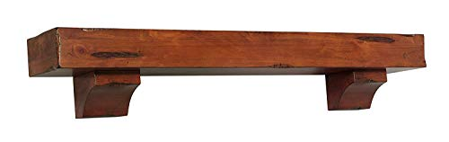 Pearl Mantels 412 72 50 Shenandoah Pine 72 Inch Fireplace Mantel Shelf Rustic Medium 0 3