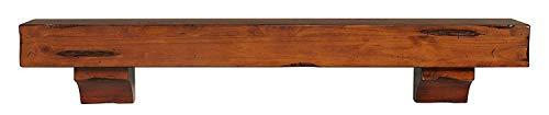 Pearl Mantels 412 72 50 Shenandoah Pine 72 Inch Fireplace Mantel Shelf Rustic Medium 0