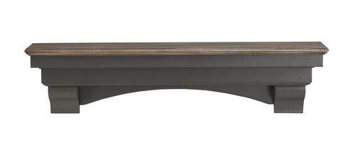 Pearl Mantels 499 60 27 Hadley Mantel Shelf 60 Inch Cottage Distressed 0