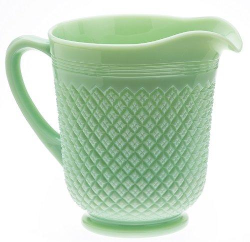 Pitcher Addison Pattern Mosser Glass American Made Jade 0