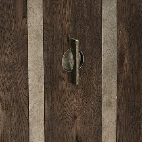 Pulaski Metal Strap Dk Oak Three Door Console Accents Brown 0 4