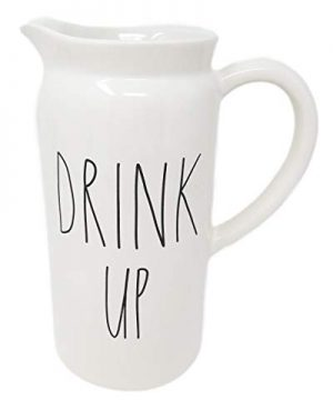 Rae Dunn By Magenta DRINK UP Ceramic LL Pitcher 0 0 300x360