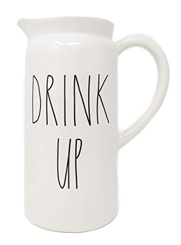 Rae Dunn By Magenta DRINK UP Ceramic LL Pitcher 0