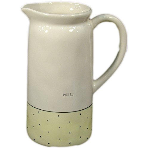 Rae Dunn Yellow Polka Dot Pitcher Great Gift Idea For All 0