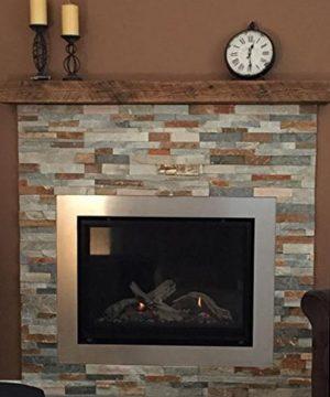 Reclaimed Barnwood Beam Fireplace Mantel Wood 4x6x72 0 5 300x360