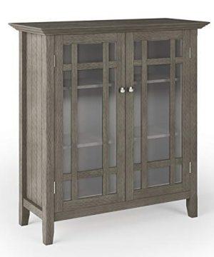SIMPLIHOME Bedford Storage Media Cabinet 39 Inch Farmhouse Grey 0 300x360