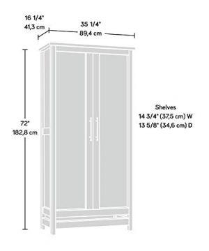 Sauder Granite Trace Storage Cabinet L 352 X W 1626 X H 7197 Rustic Cedar 0 300x360