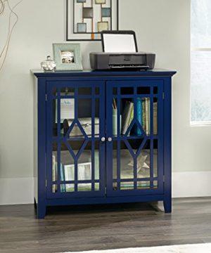 Sauder Shoal Creek Display Cabinet Indigo Blue Finish 0 0 300x360