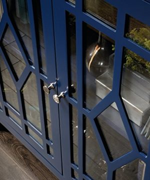 Sauder Shoal Creek Display Cabinet Indigo Blue Finish 0 3 300x360