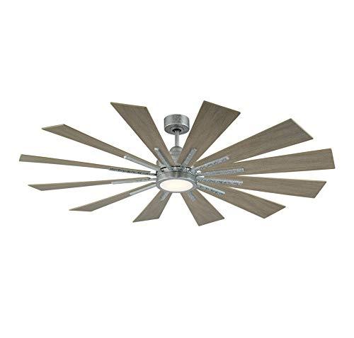 Savoy House 60 760 12WO 168 Farmhouse 60 Weathered Oak Ceiling Fan 60 W X 62H 0