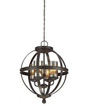Sea Gull Lighting 3110404 715 Sfera Four Light Chandelier Hanging Modern Fixture Autumn Bronze Finish 0 300x360