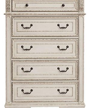 Signature Design By Ashley B743 46 Realyn Chest Of Drawers Chipped White 0 1 300x360