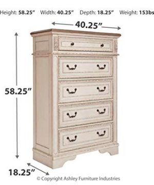 Signature Design By Ashley B743 46 Realyn Chest Of Drawers Chipped White 0 2 300x360