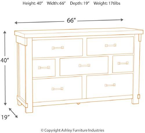 Signature Design By Ashley Brashland Dressers White White Dresser 0 4
