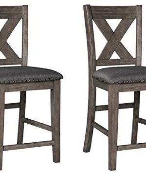 Signature Design By Ashley Caitbrook Counter Height Upholstered Bar Stool Gray 0 300x360
