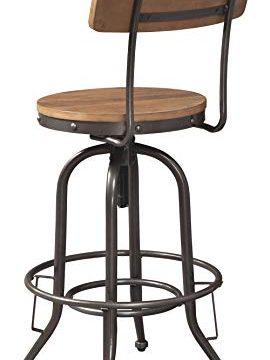 Signature Design By Ashley Pinnadel Swivel Bar Stool Pub Height Set Of 2 Light Brown 0 2 270x360