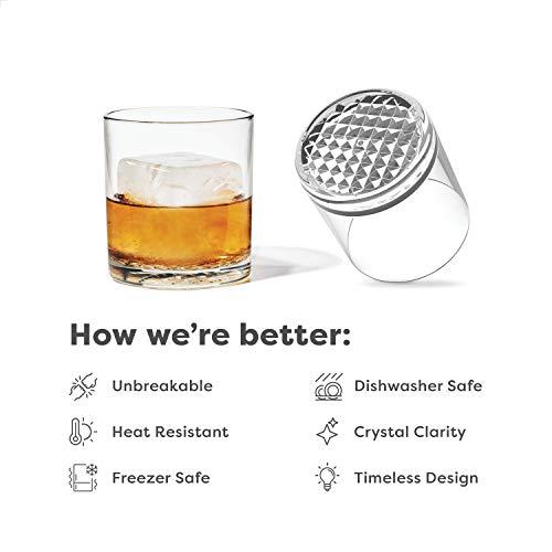 TOSSWARE RESERVE 12oz Old Fashion SET OF 4 Tritan Dishwasher Safe Heat Resistant Unbreakable Plastic Whiskey Glasses 0 0