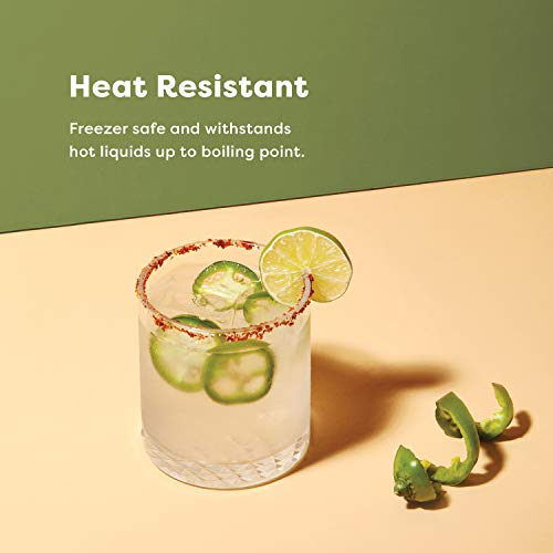 TOSSWARE RESERVE 12oz Old Fashion SET OF 4 Tritan Dishwasher Safe Heat Resistant Unbreakable Plastic Whiskey Glasses 0 1