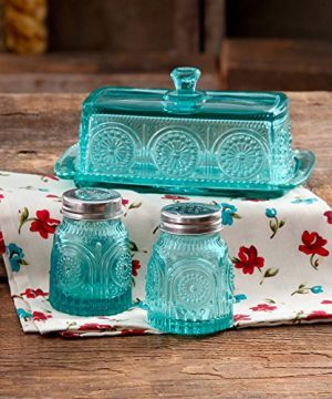 The Pioneer Woman Adeline Glass Butter Dish With Salt And Pepper Shaker Set 0 1 300x360