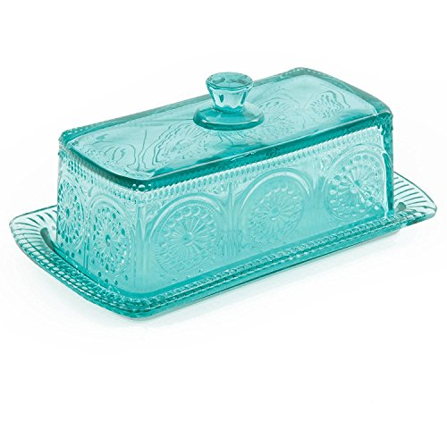 The Pioneer Woman Adeline Glass Butter Dish With Salt And Pepper Shaker Set 0 3