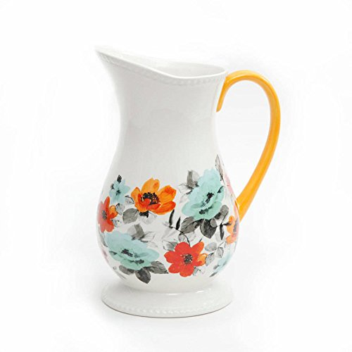 The Pioneer Woman Flea Market Decorated Floral 2 Quart Pitcher 0 0