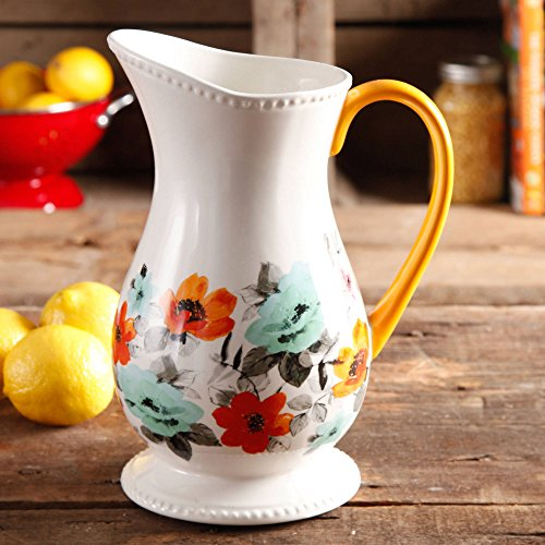 The Pioneer Woman Flea Market Decorated Floral 2 Quart Pitcher 0