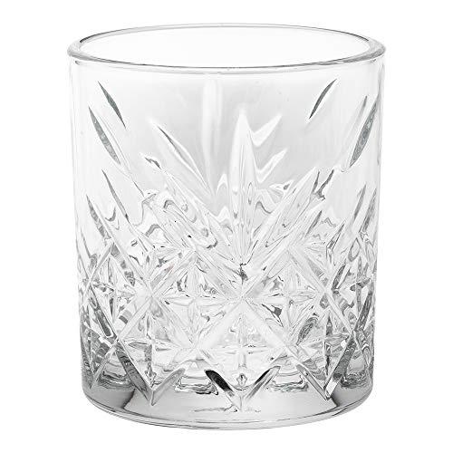Timeless 7 Oz Rocks Glass Etched 2 34 X 2 34 X 3 14 6 Count Box Restaurantware Model 0 0