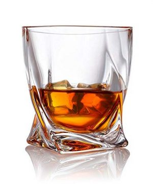 Twist Whiskey Glasses Set Of 2 Ultra Clarity Glass Rocks Tumblers 10oz By Van Daemon For Liquor Bourbon Or Scotch Perfectly Gift Boxed 0 0 300x360