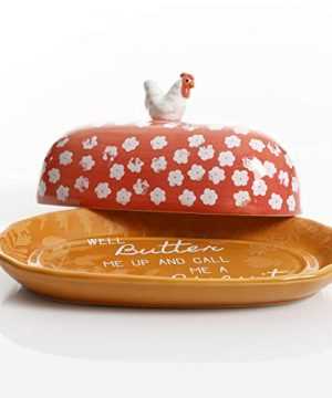 Urban Market By Gibson Life On The Farm Figural Rooster Butter Dish With Lid Red 0 0 300x360