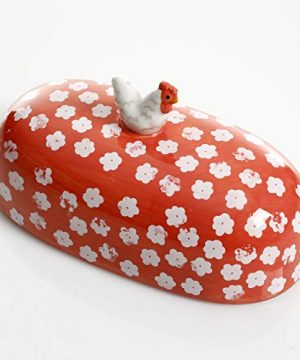 Urban Market By Gibson Life On The Farm Figural Rooster Butter Dish With Lid Red 0 2 300x360