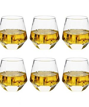 Verolux Whiskey Glasses For Scotch Bourbon Liquor And Cocktail Drinks Old Fashioned Whiskey Tumblers Thick Heavy Base Set Of 6 9 Oz 0 0 300x360