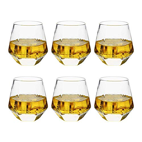 Verolux Whiskey Glasses For Scotch Bourbon Liquor And Cocktail Drinks Old Fashioned Whiskey Tumblers Thick Heavy Base Set Of 6 9 Oz 0 0