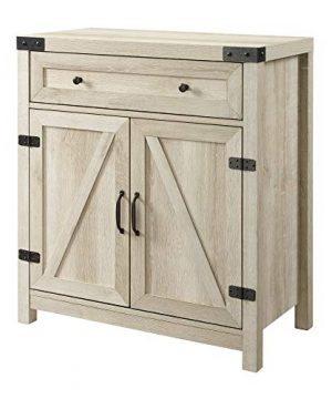 Walker Edison Cass Modern Farmhouse Double Barn Door Accent Cabinet 30 Inch White Oak 0 3 300x360