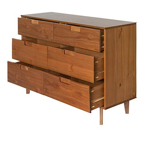 Walker Edison Furniture AZR6DSLDRCA Dresser Caramel 0 2