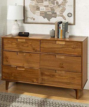 Walker Edison Furniture AZR6DSLDRCA Dresser Caramel 0 300x360