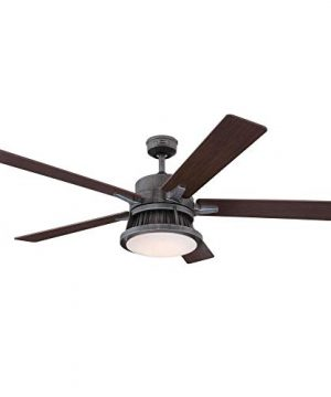 Westinghouse Lighting 7220400 Chambers 60 Inch Distressed Aluminum Indoor Dimmable LED Light Kit Opal Frosted Glass Removable Cage Remote Control Ceiling Fan 0 0 300x360