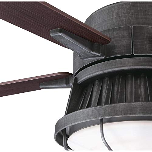 Westinghouse Lighting 7220400 Chambers 60 Inch Distressed Aluminum Indoor Dimmable LED Light Kit Opal Frosted Glass Removable Cage Remote Control Ceiling Fan 0 3