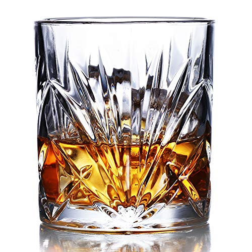 Whiskey Glasses Set Of 6 10oz Premium Lead Free Crystal Whiskey Glass Rock Style Old Fashioned Glass For Drinking Scotch Bourbon Cognac Irish Whisky And Old Fashioned Cocktails 0 0