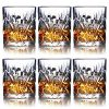 Whiskey Glasses Set Of 6 10oz Premium Lead Free Crystal Whiskey Glass Rock Style Old Fashioned Glass For Drinking Scotch Bourbon Cognac Irish Whisky And Old Fashioned Cocktails 0 100x100