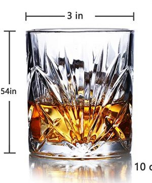 Whiskey Glasses Set Of 6 10oz Premium Lead Free Crystal Whiskey Glass Rock Style Old Fashioned Glass For Drinking Scotch Bourbon Cognac Irish Whisky And Old Fashioned Cocktails 0 2 300x360