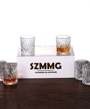 Whiskey Glasses Set Of 6 10oz Premium Lead Free Crystal Whiskey Glass Rock Style Old Fashioned Glass For Drinking Scotch Bourbon Cognac Irish Whisky And Old Fashioned Cocktails 0 5 300x360
