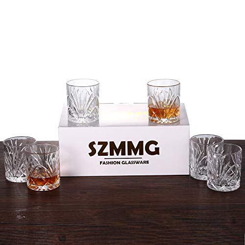 Whiskey Glasses Set Of 6 10oz Premium Lead Free Crystal Whiskey Glass Rock Style Old Fashioned Glass For Drinking Scotch Bourbon Cognac Irish Whisky And Old Fashioned Cocktails 0 5