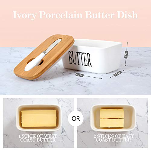 White Butter Dish With Lid 650ml Butter Dishes With Covers Covered Butter Dish For Countertop Large Butter Dish With Knife Fliptop Butter Dish Wide Butter Dish Ceramic Butter Dish 0 0