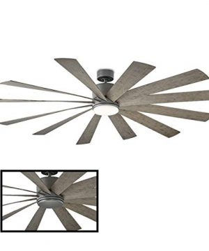 Windflower IndoorOutdoor 12 Blade Smart Ceiling Fan 80in Graphite With 3500K LED Light Kit And Wall Control Works With IOSAndroid Alexa Google Assistant Samsung SmartThings And Ecobee 0 300x360