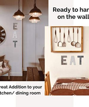 Wooden Eat Sign For Kitchen Decorations Rustic Eat Signs Kitchen Wall Decor Farmhouse Kitchen Wall Art EAT Letters Farmhouse Kitchen Decor For Dining Room Eatery Easy To Hang Or Stand On Table 0 0 300x360