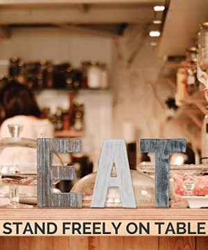 Wooden Eat Sign For Kitchen Decorations Rustic Eat Signs Kitchen Wall Decor Farmhouse Kitchen Wall Art EAT Letters Farmhouse Kitchen Decor For Dining Room Eatery Easy To Hang Or Stand On Table 0 3 300x360